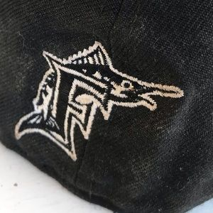 59Fifty Accessories - Florida Marlins black baseball cap fitted new